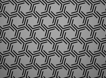 Abstract geometric pattern with stripes, lines. Seamless vector background. Black and grey ornament. Simple lattice graphic design Ilustracja
