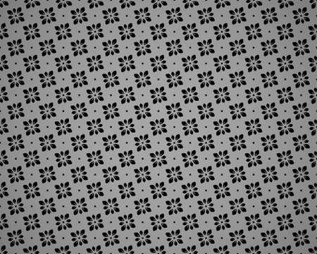 Flower geometric pattern. Seamless vector background. Black ornament Ilustracja