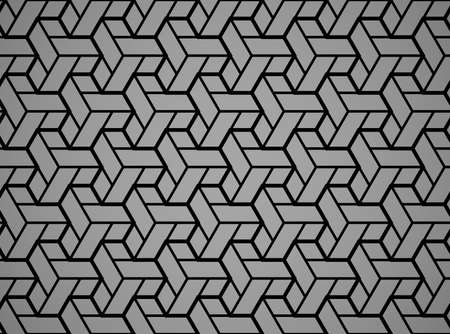 Abstract geometric pattern. A seamless vector background. Black and grey ornament. Graphic modern pattern. Simple lattice graphic design