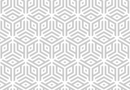 Abstract geometric pattern. A seamless vector background. White and grey ornament. Graphic modern pattern. Simple lattice graphic design.