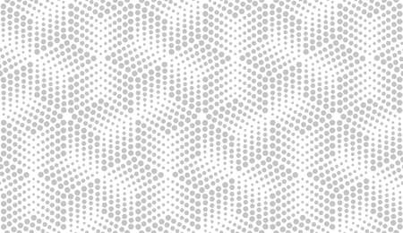 Abstract geometric pattern with points. A seamless vector background. White and grey ornament. Graphic modern pattern. Simple lattice graphic design. Ilustracja