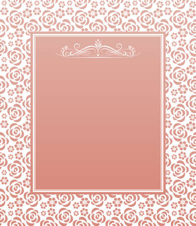 Abstract floral pattern. Vector seamless background. Perfect for invitations or announcements. 向量圖像