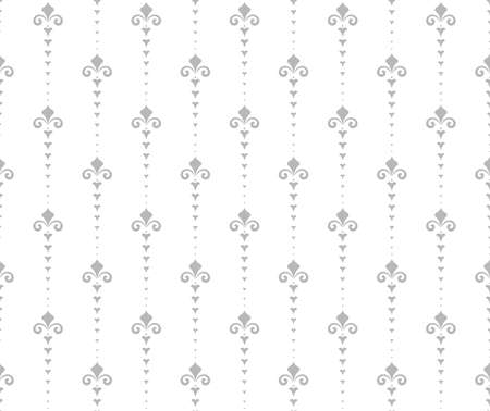 Flower geometric pattern. Seamless background. White and grey ornament. 向量圖像