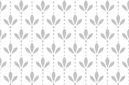 Flower geometric pattern. Seamless background. White and grey ornament. 版權商用圖片