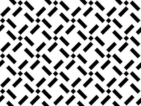 Abstract geometric pattern. A seamless background. White and black ornament. Graphic modern pattern. Simple lattice graphic design