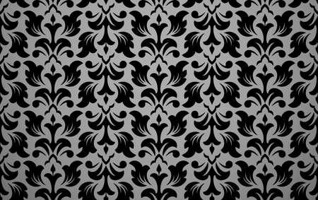 Flower geometric pattern. Seamless background. Black ornament. Ornament for fabric, wallpaper, packaging. Decorative print 版權商用圖片