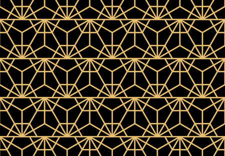 Abstract geometric pattern. A seamless background. Gold and black ornament. Graphic modern pattern. Simple lattice graphic design 版權商用圖片