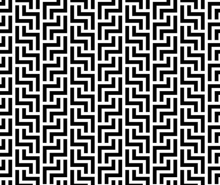 Abstract geometric pattern with stripes, lines. Seamless background. White and black ornament. Simple lattice graphic design