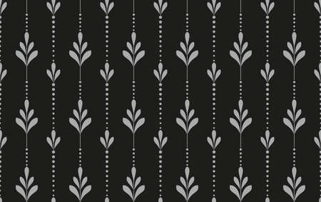 Flower geometric pattern. Seamless background. Black and grey ornament. Ornament for fabric, wallpaper, packaging. Decorative print