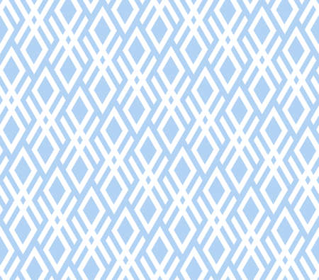 Abstract geometric pattern. A seamless background. White and blue ornament. Graphic modern pattern. Simple lattice graphic design