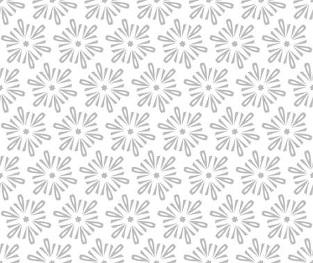 Abstract geometric pattern with lines, snowflakes. A seamless background. White and grey texture. Graphic modern pattern