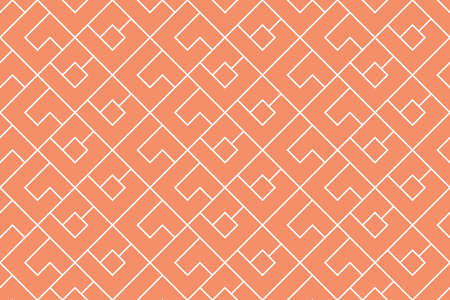 The geometric pattern with lines. Seamless background. White and pink texture. Graphic modern pattern. Simple lattice graphic design Banco de Imagens