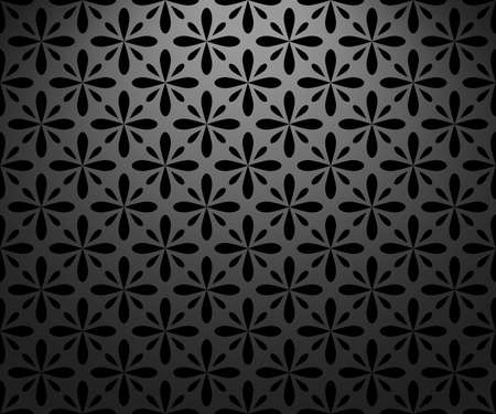 Flower geometric pattern. Seamless background. Black ornament 스톡 콘텐츠