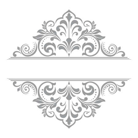 Vintage grey element. Graphic design. Damask graphic ornament