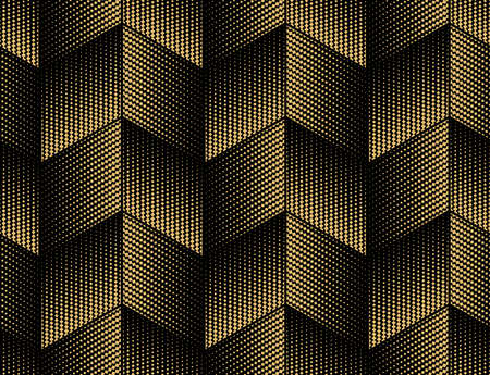 Abstract geometric pattern. A seamless background. Gold and black ornament. Graphic modern pattern. Simple lattice graphic design 스톡 콘텐츠