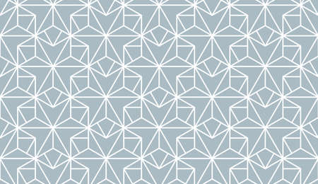 The geometric pattern with lines. Seamless background. White and blue texture. Graphic modern pattern. Simple lattice graphic design Banco de Imagens