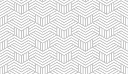 Abstract geometric pattern with stripes, lines. Seamless background. White and grey ornament. Simple lattice graphic design. 스톡 콘텐츠