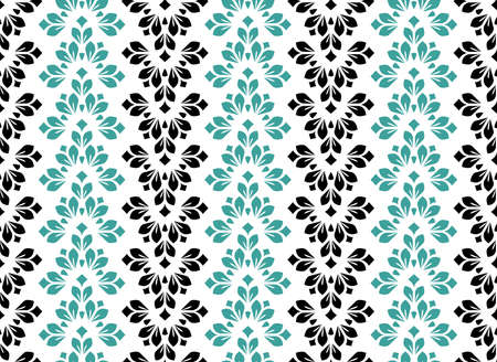 Flower geometric pattern. Seamless vector background. Color ornament