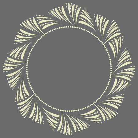 Decorative frame Elegant element for design in Eastern style, place for text. Floral gray border. Lace illustration for invitations and greeting cards Ilustrace