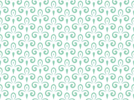 Flower pattern. Seamless white and green ornament. Graphic background.