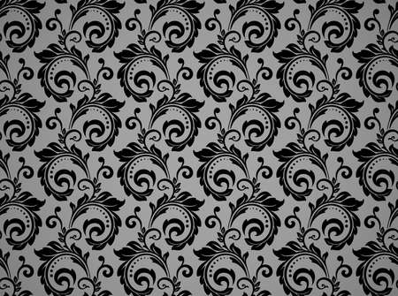 Flower pattern. Seamless black ornament. Graphic background. Ornament for fabric, wallpaper, packaging Ilustrace
