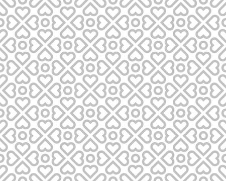 Abstract geometric pattern. A seamless vector background. White and gray ornament. Graphic modern pattern. Simple lattice graphic design. Векторная Иллюстрация