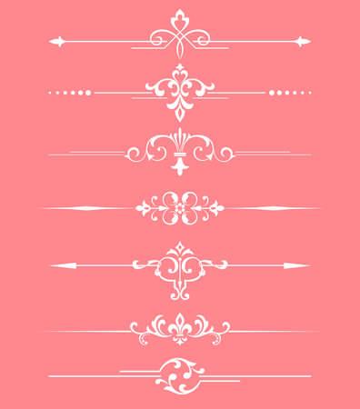 Vintage set. Floral elements for design monograms, invitations, frames, menus and labels. Graphic design of the website, cafes, boutiques, hotels, wedding invitations. Stok Fotoğraf