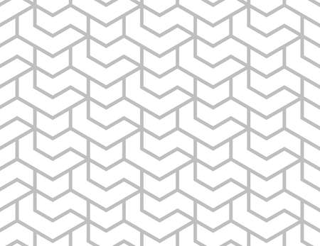 The geometric pattern with lines. Seamless background. White and gray texture. Graphic modern pattern. Simple lattice graphic design.