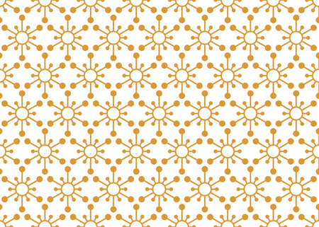 Flower geometric pattern. Seamless background. White and gold ornament. Ornament for fabric, wallpaper, packaging. Decorative print