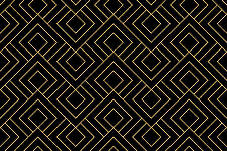 The geometric pattern with lines. Seamless background. Gold and black texture. Graphic modern pattern. Simple lattice graphic design Stok Fotoğraf