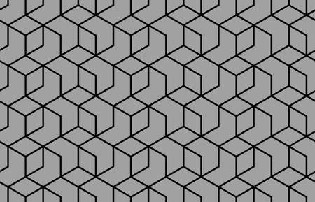 The geometric pattern with lines. Seamless background. Black texture. Graphic modern pattern. Simple lattice graphic design Stok Fotoğraf