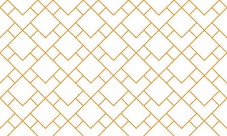 The geometric pattern with lines. Seamless background. White and gold texture. Graphic modern pattern. Simple lattice graphic design