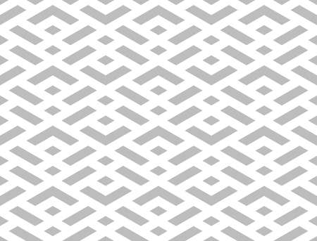 Abstract geometric pattern. A seamless background. White and gray ornament. Graphic modern pattern. Simple lattice graphic design.