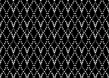 The geometric pattern with wavy lines, points. Seamless background. White and black texture. Simple lattice graphic design