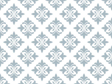 Flower geometric pattern. Seamless background. White and blue ornament. Ornament for fabric, wallpaper, packaging. Decorative print Stok Fotoğraf