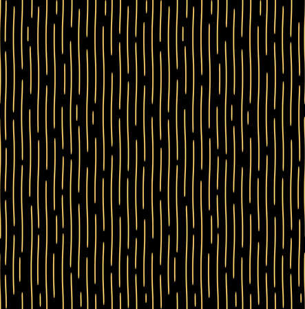 The geometric pattern with wavy lines. Seamless background. Gold and black texture. Simple lattice graphic design