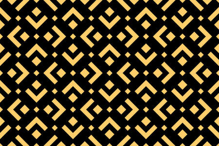 Abstract geometric pattern. A seamless background. Black and gold ornament. Graphic modern pattern. Simple lattice graphic design