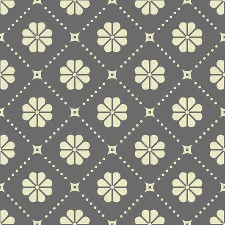 Flower geometric pattern. Seamless background. Gray ornament. Ornament for fabric, wallpaper, packaging. Decorative print Stock fotó