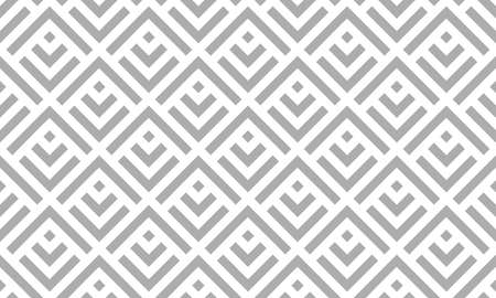 Abstract geometric pattern. A seamless vector background. White and gray ornament. Graphic modern pattern. Simple lattice graphic design. Иллюстрация