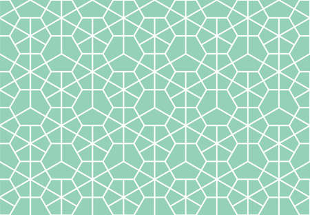The geometric pattern with lines. Seamless vector background. White and green texture. Graphic modern pattern. Simple lattice graphic design