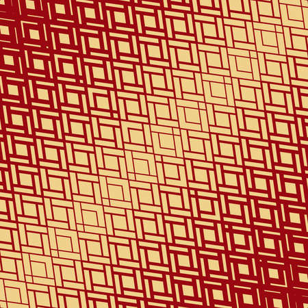 Abstract geometric pattern. Modern vector background. Gold and red ornament. Graphic modern pattern. Simple lattice graphic design