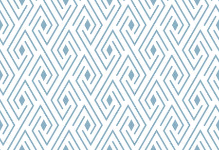 Abstract geometric pattern. A seamless vector background. White and blue ornament. Graphic modern pattern. Simple lattice graphic design Иллюстрация