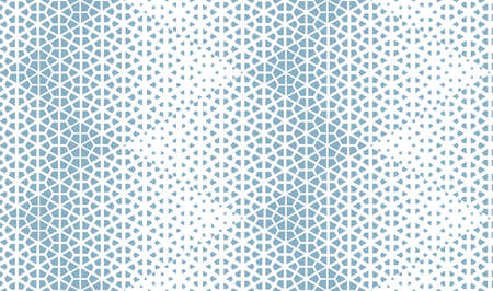 Abstract geometric pattern. Seamless vector background. White and blue halftone. Graphic modern pattern. Simple lattice graphic design
