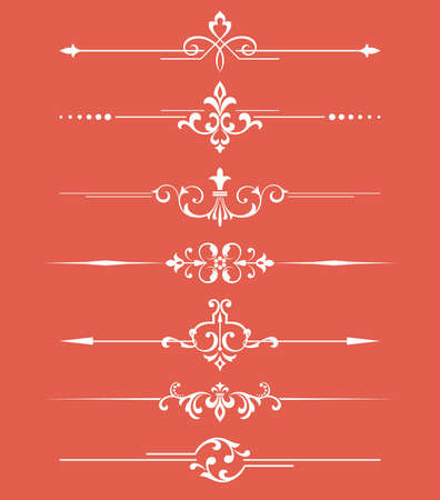 Vintage set. Floral elements for design monograms, invitations, frames, menus and labels. Graphic design of the website, cafes, boutiques, hotels, wedding invitations. Иллюстрация