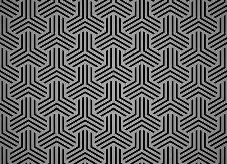 Abstract geometric pattern with stripes, lines. Seamless vector background. Black and gray ornament. Simple lattice graphic design Иллюстрация