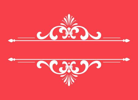 Vintage pink element. Graphic vector design. Damask graphic ornament