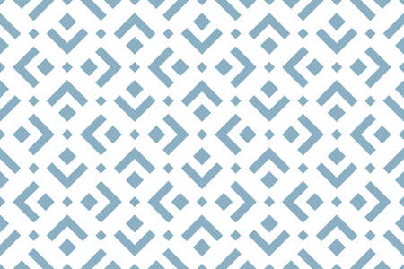 Abstract geometric pattern. A seamless vector background. White and blue ornament. Graphic modern pattern. Simple lattice graphic design Ilustração