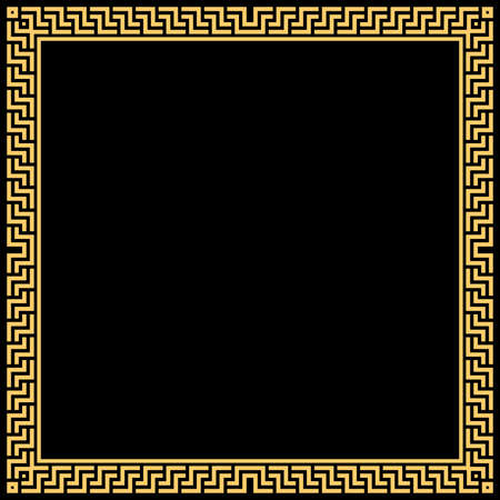 Decorative frame Elegant element for design in Eastern style, place for text. Geometric golden border. Lace illustration for invitations and greeting cards