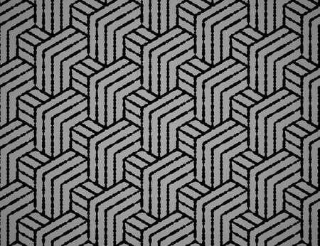 Abstract geometric pattern with stripes, lines. Seamless vector background. Black ornament. Simple lattice graphic design Illustration