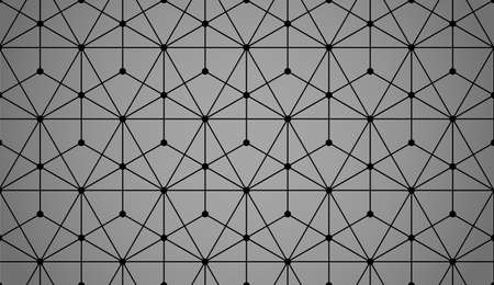 The geometric pattern with lines. Seamless vector background. Black and gray texture. Graphic modern pattern. Simple lattice graphic design Illustration
